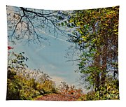 Autumn Up Hill Tapestry