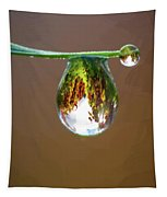 Autumn Vineyard In A Drop Of Due Tapestry