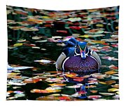 Autumn Wood Duck Tapestry