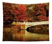 Autumnal Bow Bridge  Tapestry