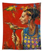 Aviary Queen Tapestry