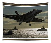 Aviation Art Catus 1 No. 26 L B With Decorative Ornate Printed Frame. Tapestry