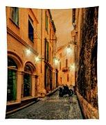 Avignon Alley At Sunset Tapestry