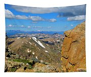 Awesome View From The Mount Massive Summit Tapestry