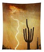 Az Saguaro Lightning Storm V Tapestry