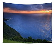 Azores Islands Sunset Tapestry