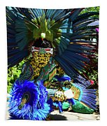 Aztec Costumed Dancer Tapestry