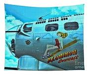 B-17 Aluminum Overcast Pin-up Tapestry