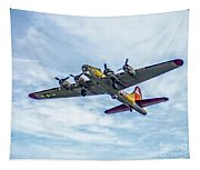 B-17g Flying Fortress In Flight  Tapestry