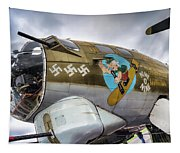 B17 Nine-o-nine Nose Art V2 Tapestry