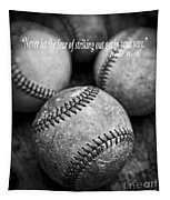 Babe Ruth Quote Tapestry