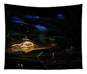 Baby Alligator At Night Tapestry