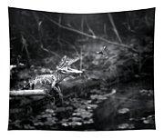Baby Alligator Vs Mud Wasp Tapestry