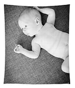 Baby Boy Black And White Tapestry
