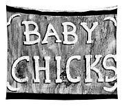 Baby Chicks Bw Tapestry