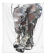 Baby Elephant Study Tapestry