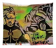Back Panther Street Art #2 Tapestry
