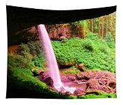 Back Side Of Silver Falls Tapestry