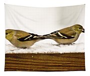 Back To Back American Gold Finches Tapestry