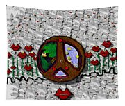 Back To The Green Nature With A Angel Smile Tapestry