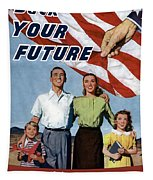 Back Your Future With Us Savings Bonds Tapestry