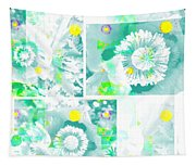Colour Choice Poppy Collage Tapestry