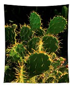 Backlit Cacti Tapestry