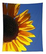 Backlit Sunflower Tapestry