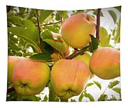Backyard Garden Series - Apples In Apple Tree Tapestry