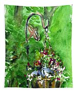 Backyard Hanging Plant Tapestry