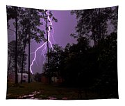 Backyard Lightning Tapestry