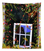 Backyard Window Tapestry