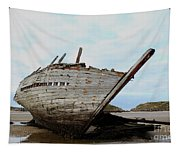 Bad Eddie's Boat Donegal Ireland Tapestry