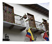 Balconies And Flags Tapestry