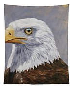 Bald Eagle Portrait Tapestry by Crista Forest