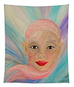 Bald Is Beauty With Brown Eyes Tapestry