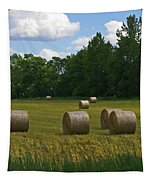 Bales In The Field Tapestry