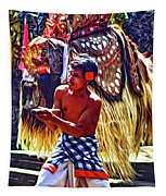 Bali Barong And Kris Dance  - Paint Tapestry