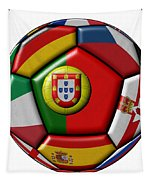 Ball With Flag Of Portugal In The Center Tapestry