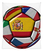 Ball With Flag Of Spain In The Center Tapestry