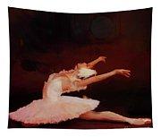 Ballet Dancer In White  Tapestry