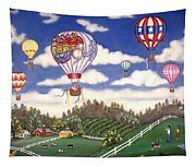 Ballooning Over The Country Tapestry