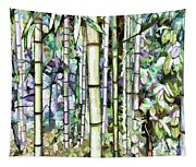 Bamboo Grove In A Botanical Garden Tapestry