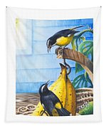 Bananaquits And Bananas Tapestry