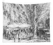 Bancarelle In Via Nomentana Rome Tapestry