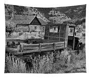 Bannack Extended Parking Black And White Tapestry