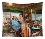 Barber - Getting A Trim 1942 - Side By Side Tapestry