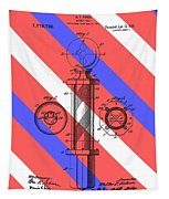 Barber Pole Patent Tapestry