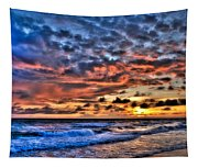 Barefoot Beach Sunset Tapestry