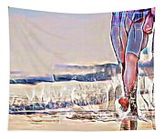 Barefoot In The Sea Tapestry
